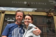 Jirka Langmajer, Adela Gondikova a Petr Hruška, Divadlo v Rytirske